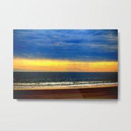 Beach Sunset Glow Metal Print