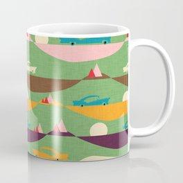50s Retro Road Trip Green #midcenturymodern Coffee Mug