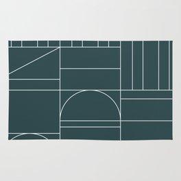 Deco Geometric 04 Teal Rug