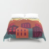 mountains Duvet Covers featuring Mountains by Kakel