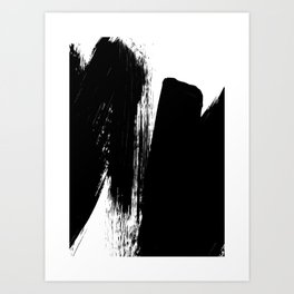 Monochrome Ink 02 Art Print