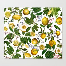 LEMON TREE White Canvas Print