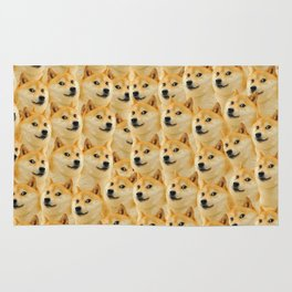 shibe doge fun and funny meme adorable Rug