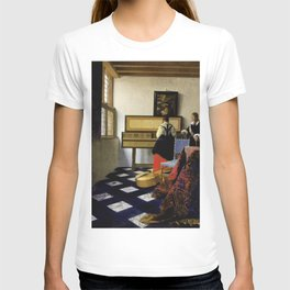Johannes Vermeer - Lady at the Virginal with a Gentleman, 'The Music Lesson' T-shirt