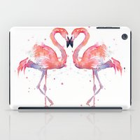 flamingo iPad Cases featuring Flamingo  by Olechka