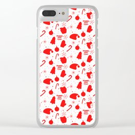 New Year Christmas winter holidays cute Clear iPhone Case