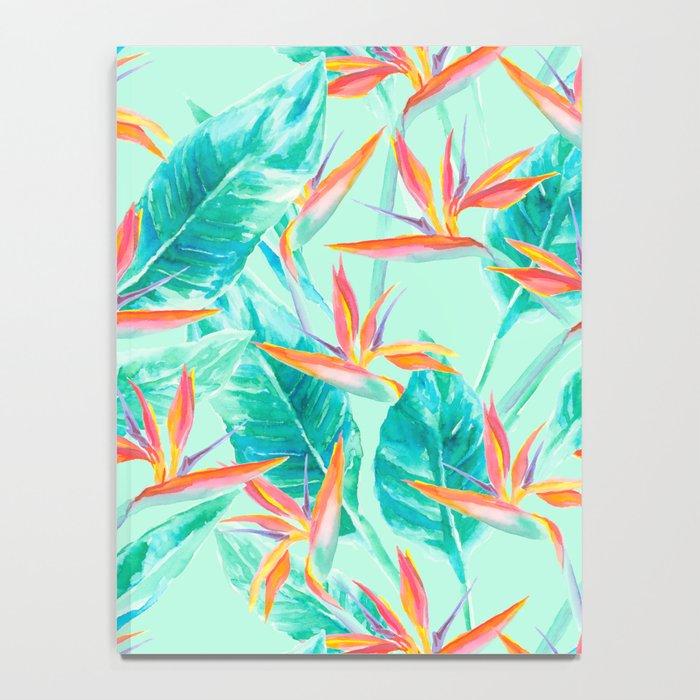 Birds Of Paradise Mint Notebook
