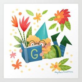 Book Gnome Art Print
