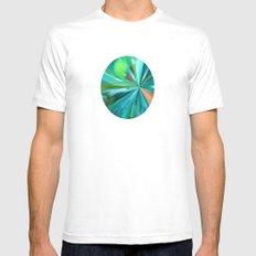 Frozen In Time White Mens Fitted Tee MEDIUM