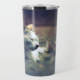 cat and kitten Travel Mug