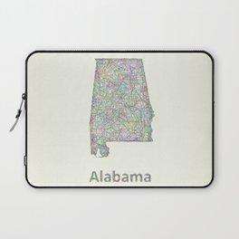 Alabama map Laptop Sleeve