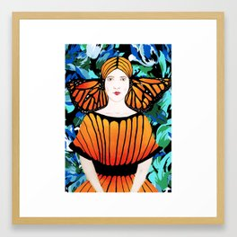 In fashion waiting Framed Art Print
