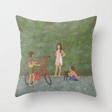 Street (Rue) Throw Pillow