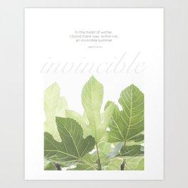 Invincible by Albert Camus Art Print