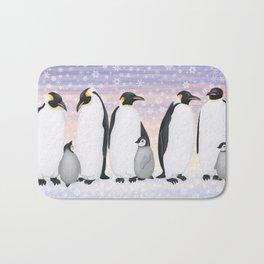 emperor penguin colony Bath Mat