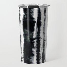 Tie-Dye Shibori Stripe BW Travel Mug