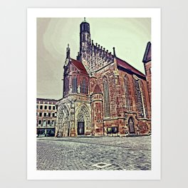 Cathedrale Art Print