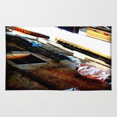 laundry in roman ba-ghetto Rug