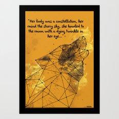 Constellation Wolf Art Print