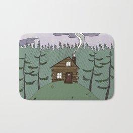 colored cabin Bath Mat