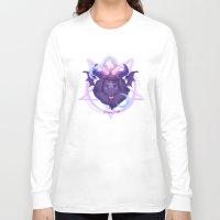 baphomet Long Sleeve T-shirts featuring Baphomet (BLACK) by Gunkiss