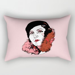 Germaine Tailleferre Female Composer Les Six, Ravel Paris Piano Harp vintage 1920s flapper lady Rectangular Pillow