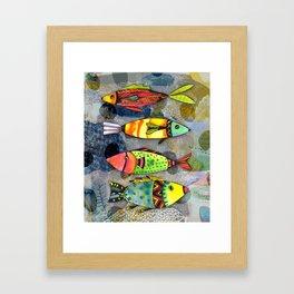 Tribal Fish Framed Art Print