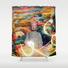 Budha in the Realm of Color Shower Curtain
