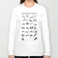 animal skull Long Sleeve T-shirts featuring Animal Skull Alphabet by Stephan Brusche
