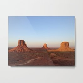Monument Valley Landscape at Sunset Metal Print