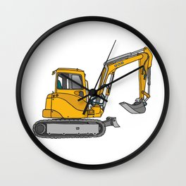 Digger excavators dredger Wall Clock