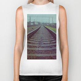 Railroad. Russia. Biker Tank