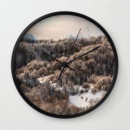 Winter Landscape 3 Wall Clock