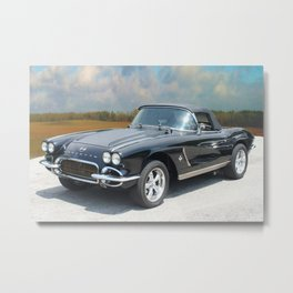 Vintage Chevrolet Corvette - On the Open Road Metal Print