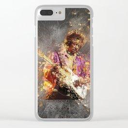 Jimi Vintage Art Clear iPhone Case