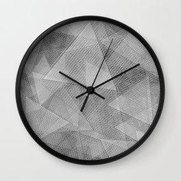Messy Triangles Wall Clock