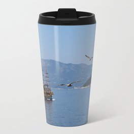 The Black Pearl Is Sailing The Waters Once Again Travel Mug