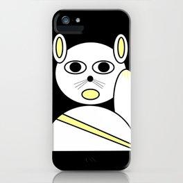 Maneki neko white iPhone Case