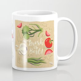 Fresh Is Best In The Kitchen Coffee Mug