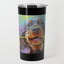Black Valentine gift for Gordon Setter Dog Lover Travel Mug