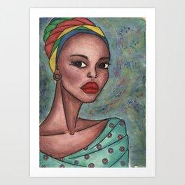 Adanna . inspirer (african woman ) Art Print