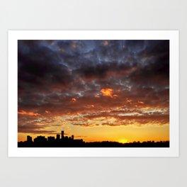Sunset on May 5 II Art Print