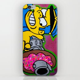Chief Wiggum Shootin Donuts iPhone Skin