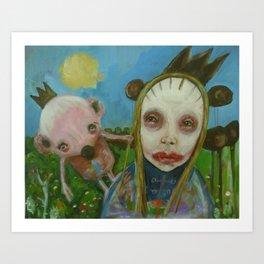 strange friends Art Print