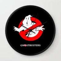 ghostbusters Wall Clocks featuring Ghostbusters by IIIIHiveIIII