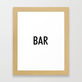 bar Framed Art Print