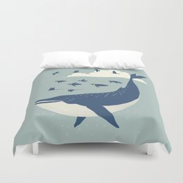 Fly in the sea Duvet Cover