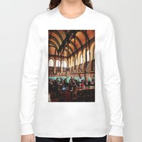 library Long Sleeve T-shirts featuring Paris Library by MarianaManina