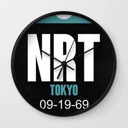 NRT Tokyo Luggage Tag 2 Wall Clock