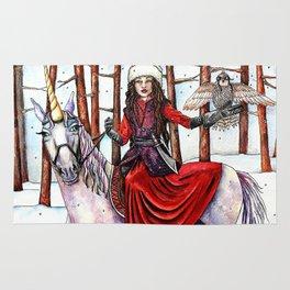 Winter Warrior by DeeDee Draz Rug
